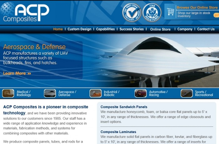 ACP Composites is a pioneer in composite technology.
